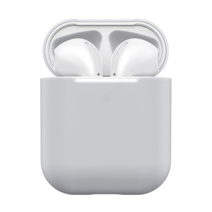Чехол для Airpods 1/ 2 Silicone Case №11 Gray