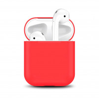 Чехол для Airpods 1/ 2 Silicone Case №9 Red
